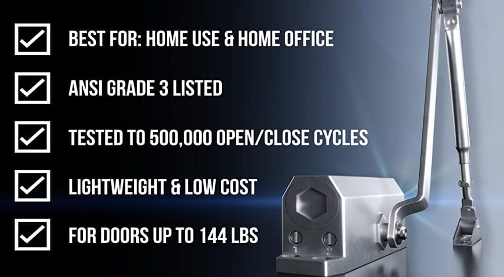 Automatic Adjustable Closers Grade 3 Hydraulic Auto Door Closer