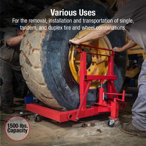 Capacity Hydraulic Wheel Dolly Sunex International 1501 1500lb. 1
