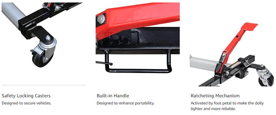Sunex 1500 Pound Hydraulic Wheel Dolly