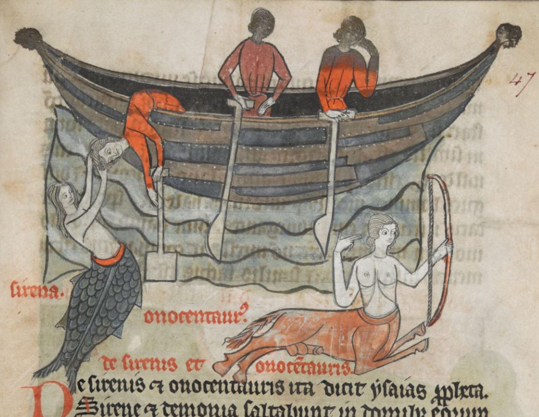 The Medieval Bestiary, Sirena et onocentaurus