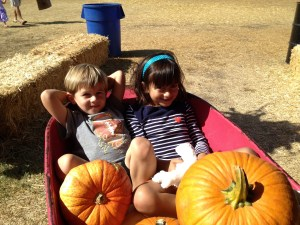 Last fall at the pumpkin patch!