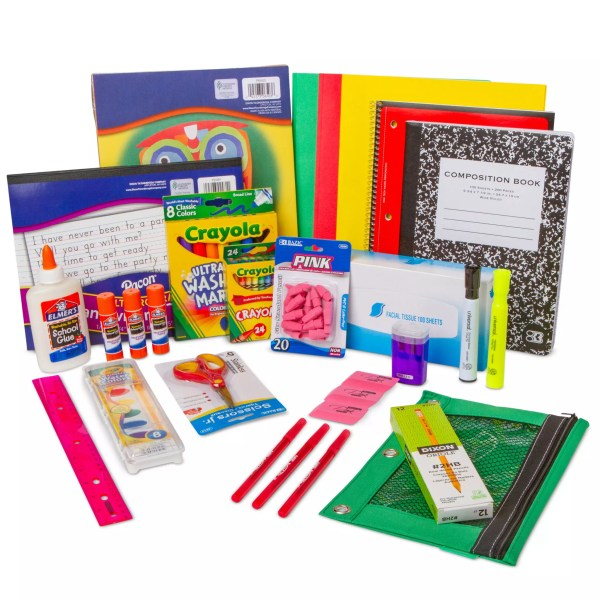 kindergarten, 1st, 2nd grade school supply pack kit
