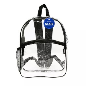 """clear school event backpack 17"""""""