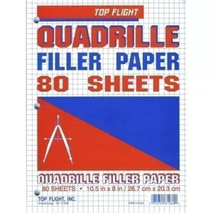 graph paper top flight 80 gr 4 sq in