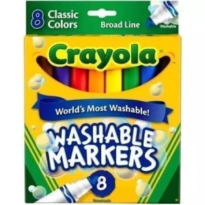 markers, washable, crayola 8 count