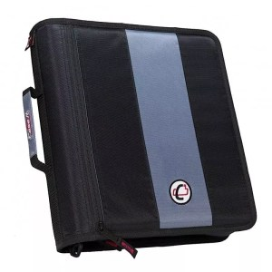 Case-It Binder, zipper, 2 inch, the classic, two inside pockets, handle & strap, d-251