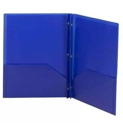 Folder plastic blue