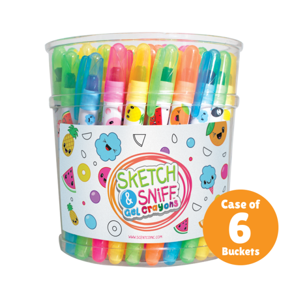 Gel Crayons, Sketch and Sniff
