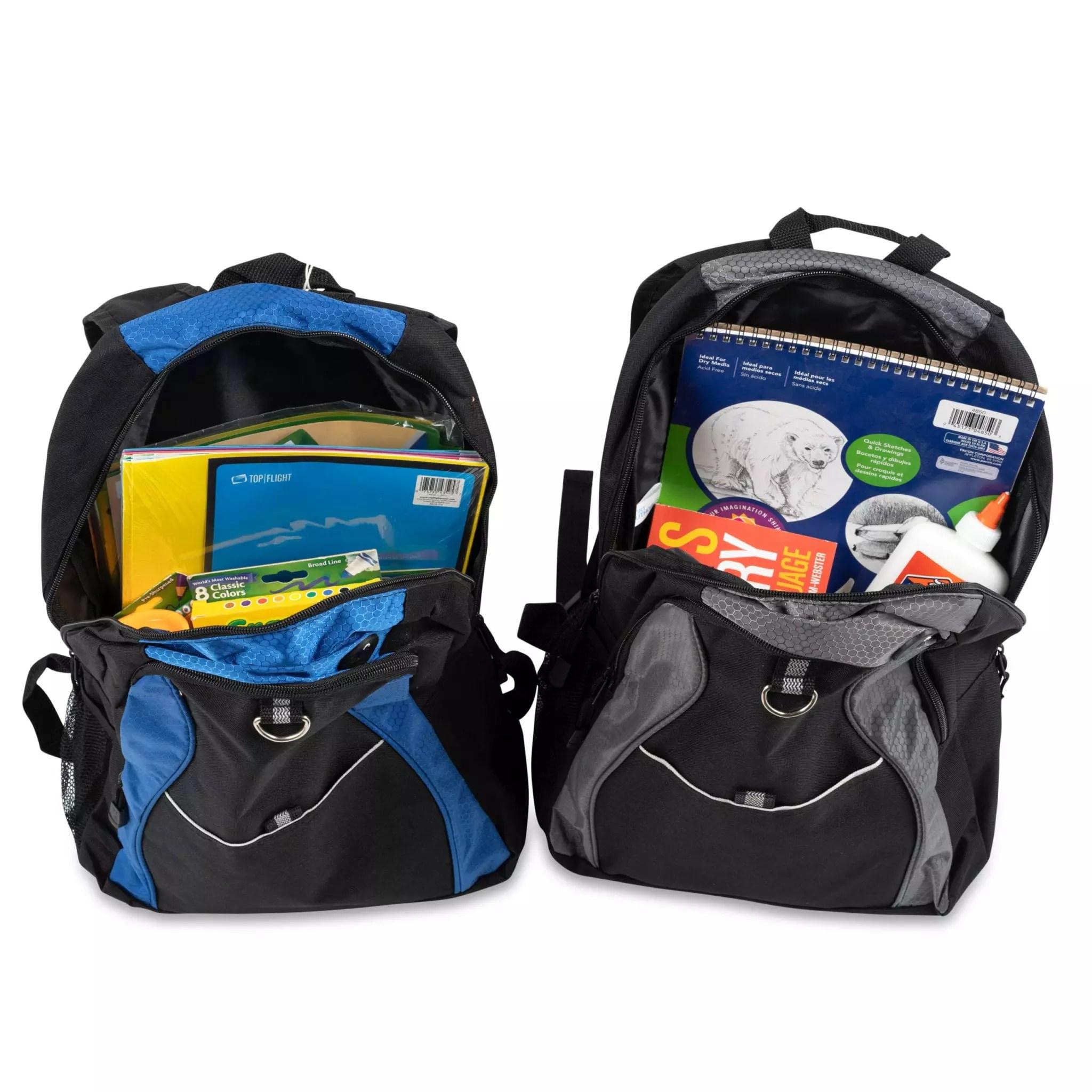 school supply backpack