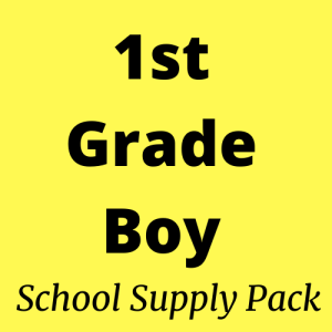 1st grade boy school supply pack