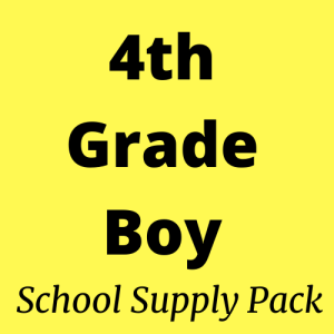 4th grade boy school supply pack