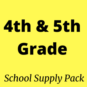 4rh and 5th grade school supply packs for sale