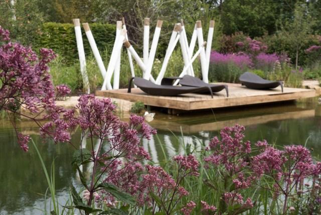 The sun deck and sculptural installation designed by Anoushka Feiler