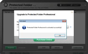 Protected Folder Serial key