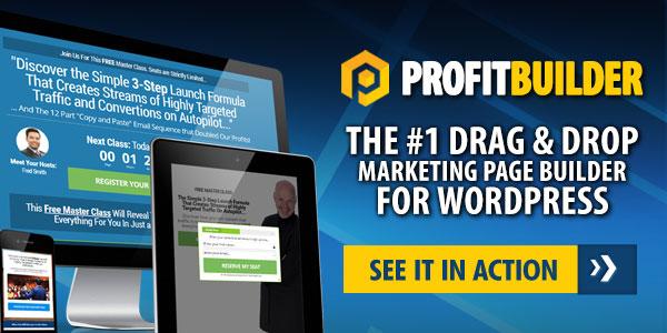 profitbuilder - best wordpress landing page builder
