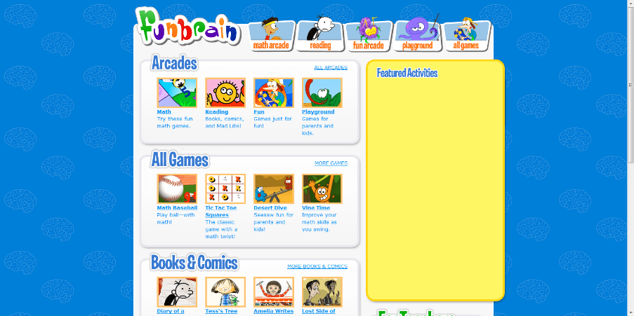 Kids educational websites