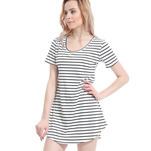 Female Sundress Summer O Neck Mini Dress