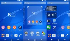 Sony Xperia Z5 Launcher Android