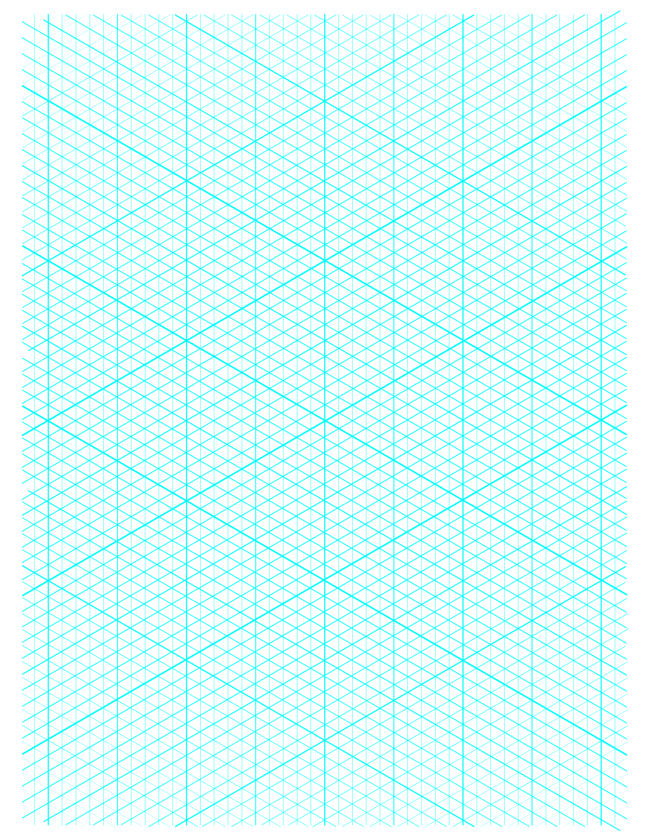 5 Free Isometric Graph Grid Paper Printable