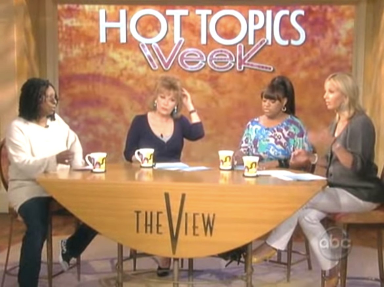 Whoopi Goldberg, Joy Behar, Sherri Shepherd, and Elisabeth Hasselbeck on The View