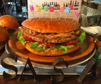 Sasa Burger birthday burger