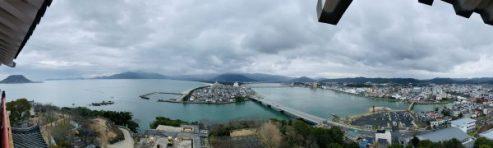 view from Karatsu castle
