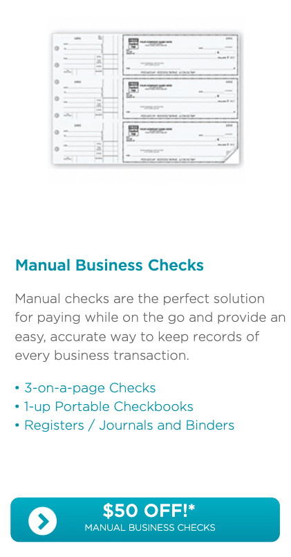 Deluxe Manual Business Checks