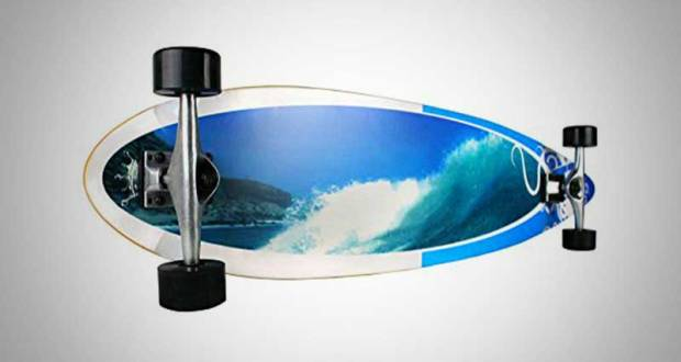 Krown Wave Crest Pin Complete Longboard Skateboard Review