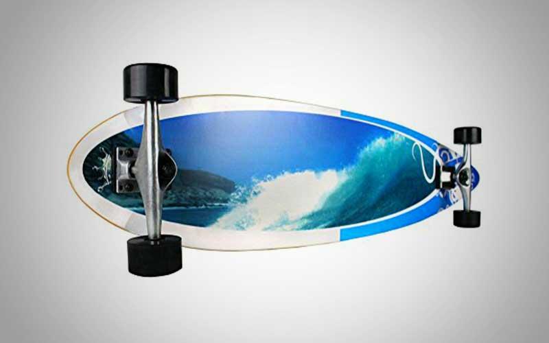 Krown Wave Crest Pin Complete Longboard Skateboard Review