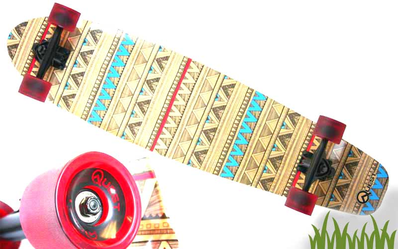 Quest Native Spirit Kick Tail Longboard Skateboard Review