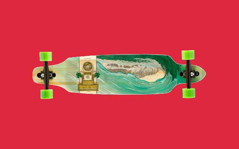 Sector 9 Drop Thru Bamboo Lookout II Green Wave Skateboard