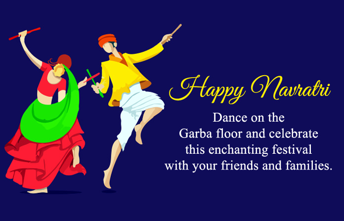 Happy Navratri Wishes in English for Greeting Card