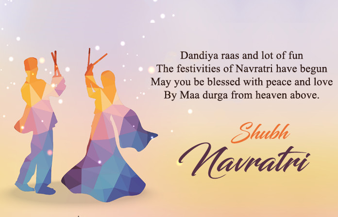 Navratri Image with Quotes