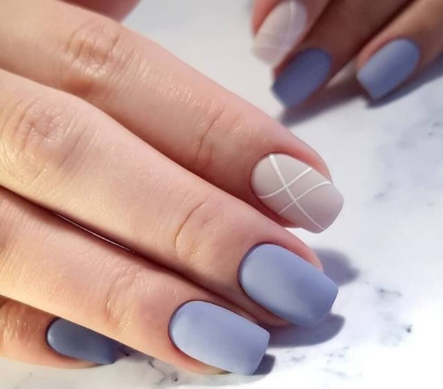 Голубой маникюр: модные варианты дизайна маникюра - 11