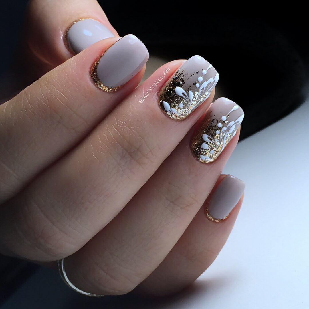 зимние ногти дизайн 3