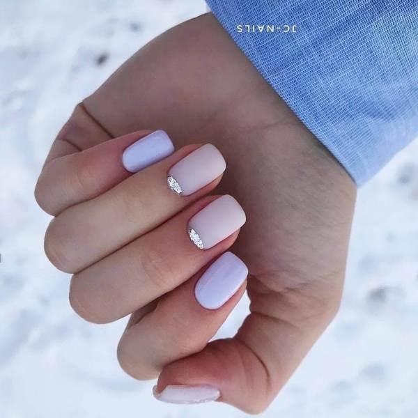 Лунный маникюр на короткие ногти - фото идей дизайна ...