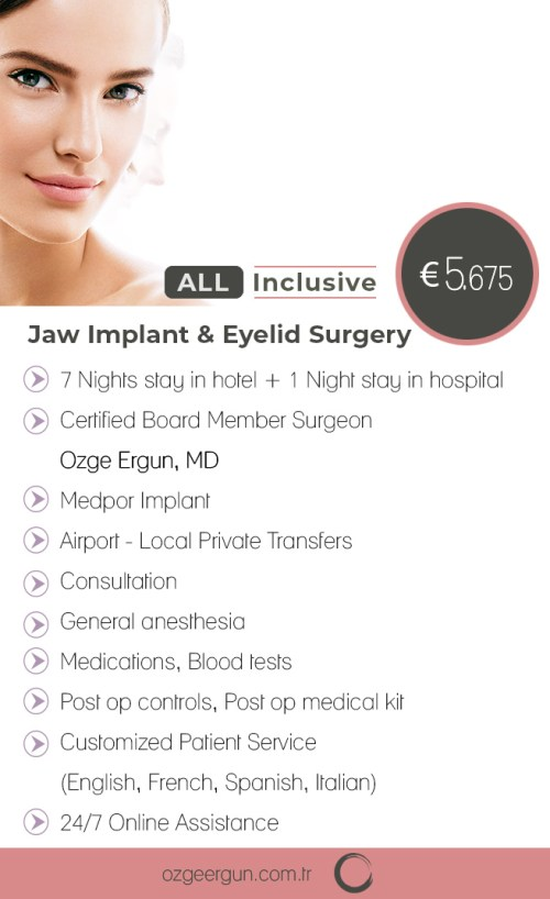Jaw Implant & Eyelid Surgery All Inclusive Package