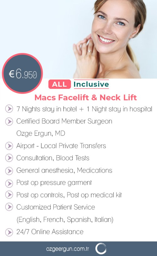 Macs Facelift & Neck Lift All Inclusive