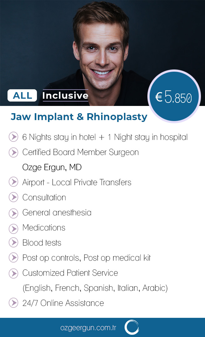 Rhinoplasty Jaw Implant Man Package