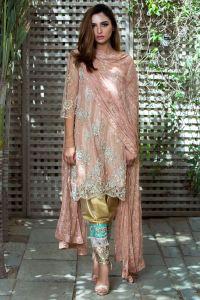 Traditional Pakistani Shalwar Kameez Mehndi Dress