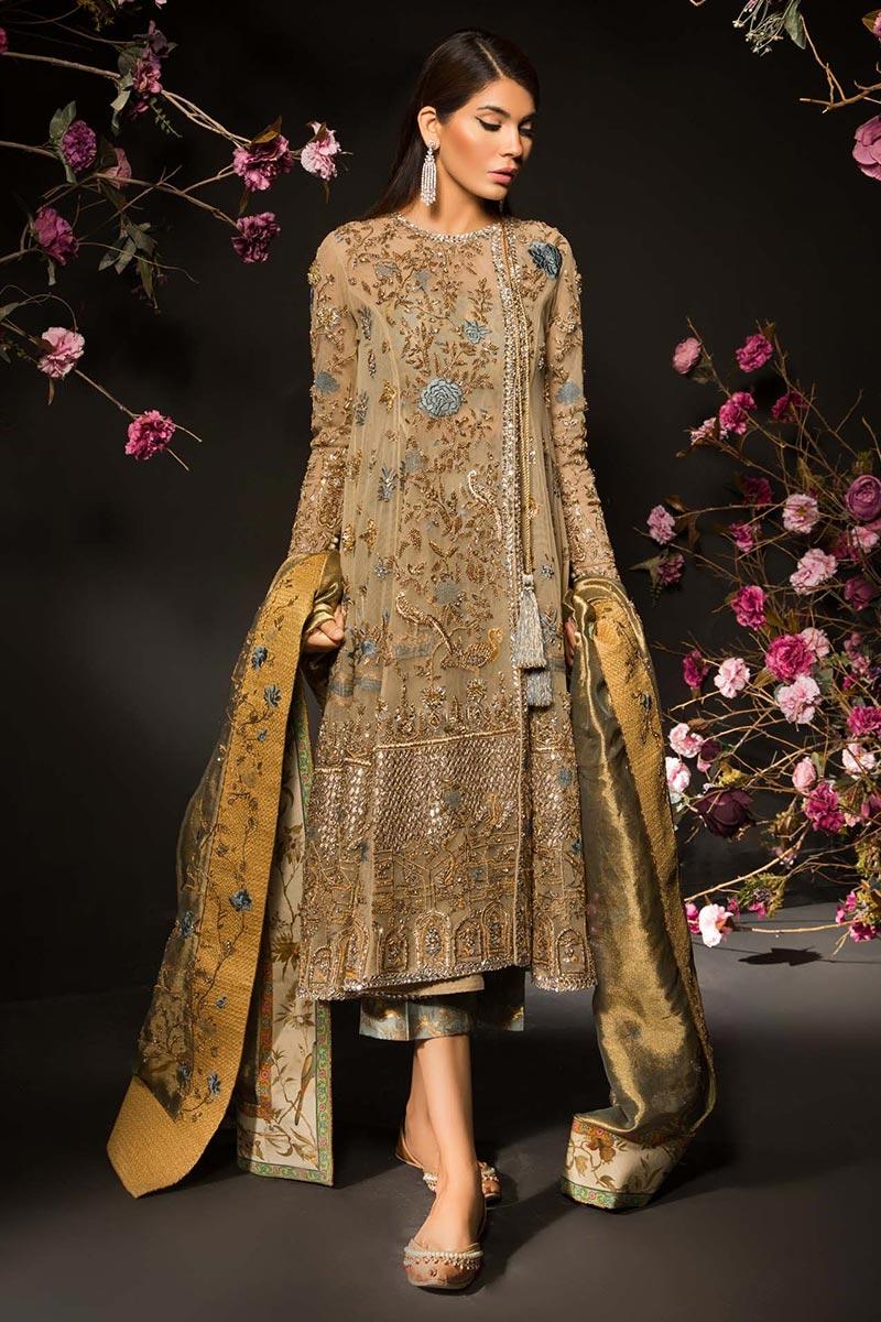 Angrakha Style Mehendi Outfit