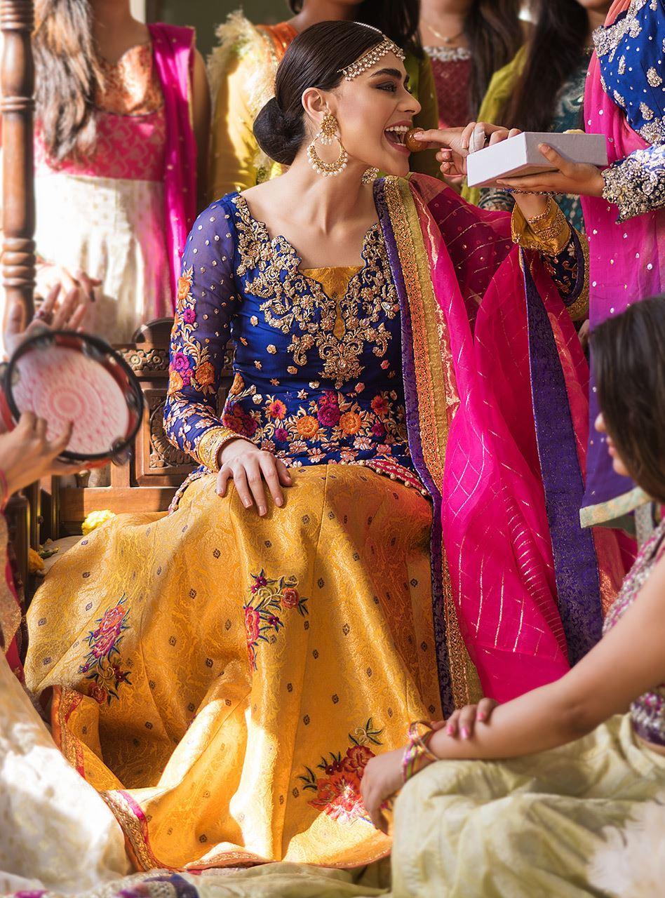 Zainab Chottani Bridal Mehndi Dress