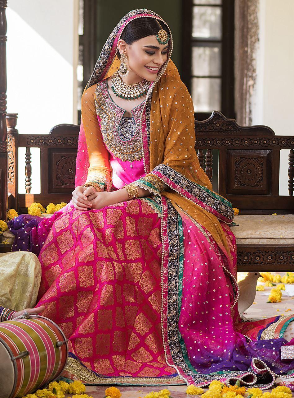Zainab Chottani Mehndi Dresses