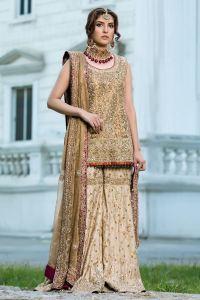 Aisha Imran Sharara Mehndi Dress for Bride's Sisters