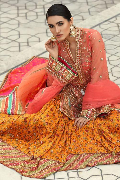 mehndi wedding dress