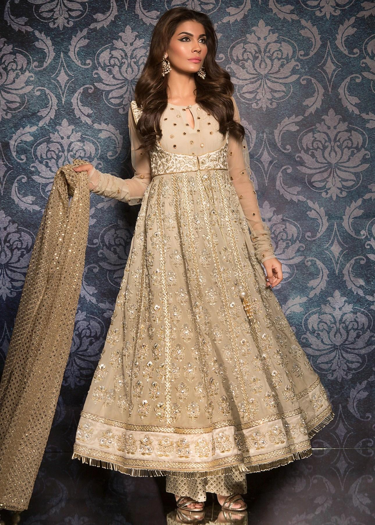 Bridal Anarkali Dress by Maheen Taseer