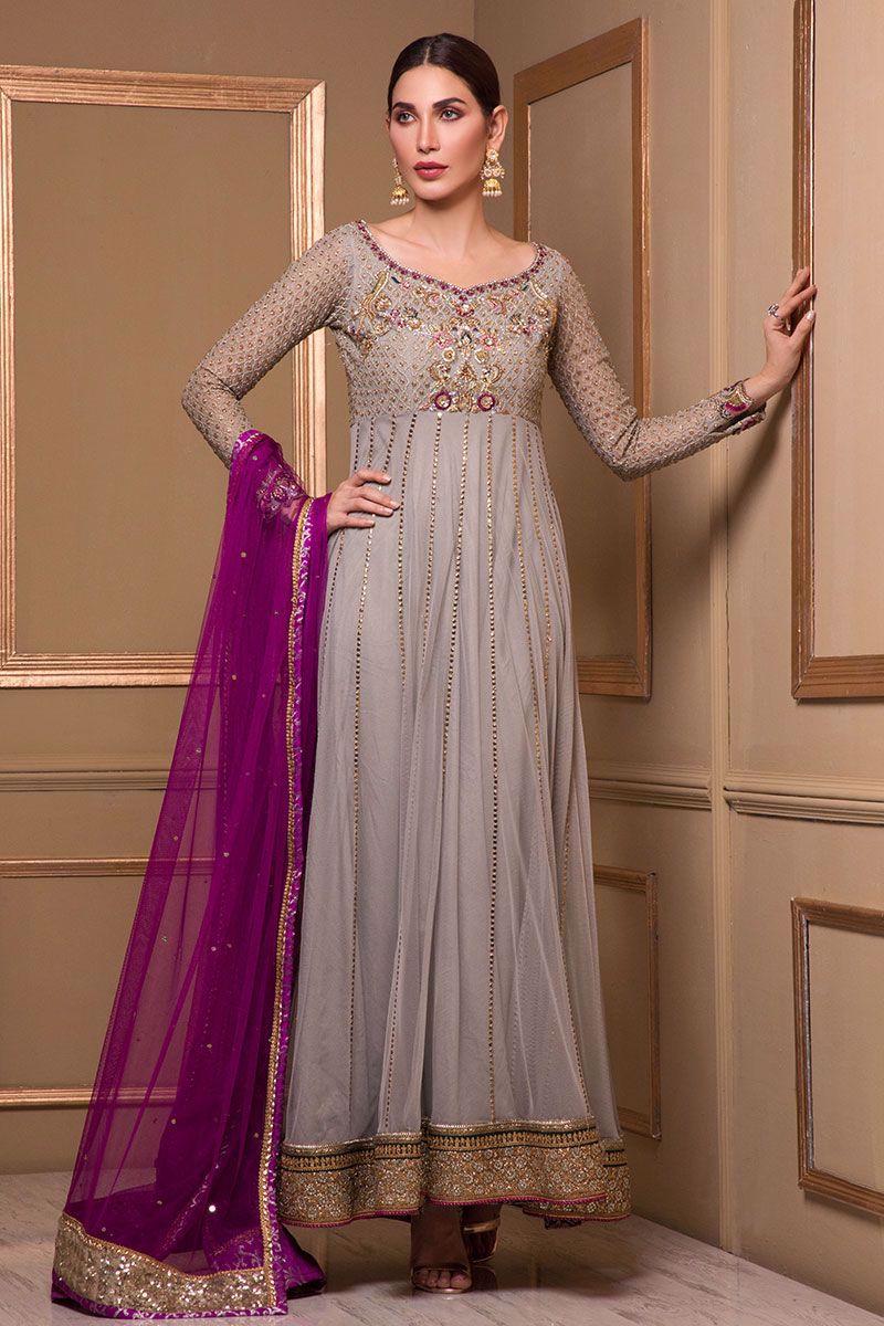 Pakistani Anarkali Dress by Rozina Munib