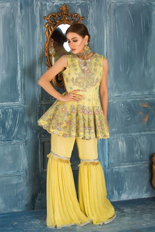 Yellow Mayun Dresses by Mirusah