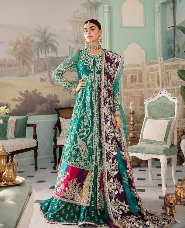 green colour dress for mehndi by Republic Women Wear