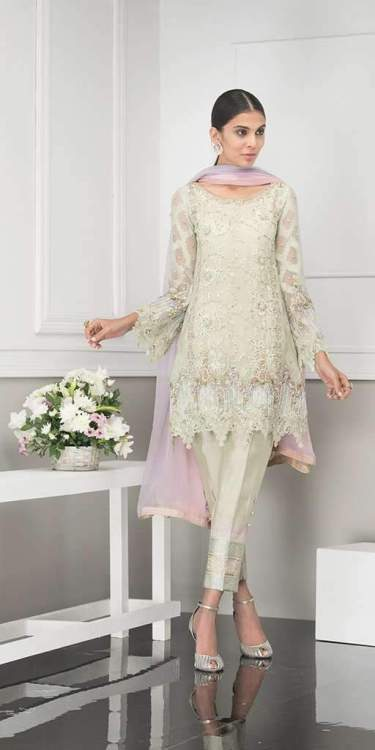 pink and green mehndi dresses by Phatyma Khan